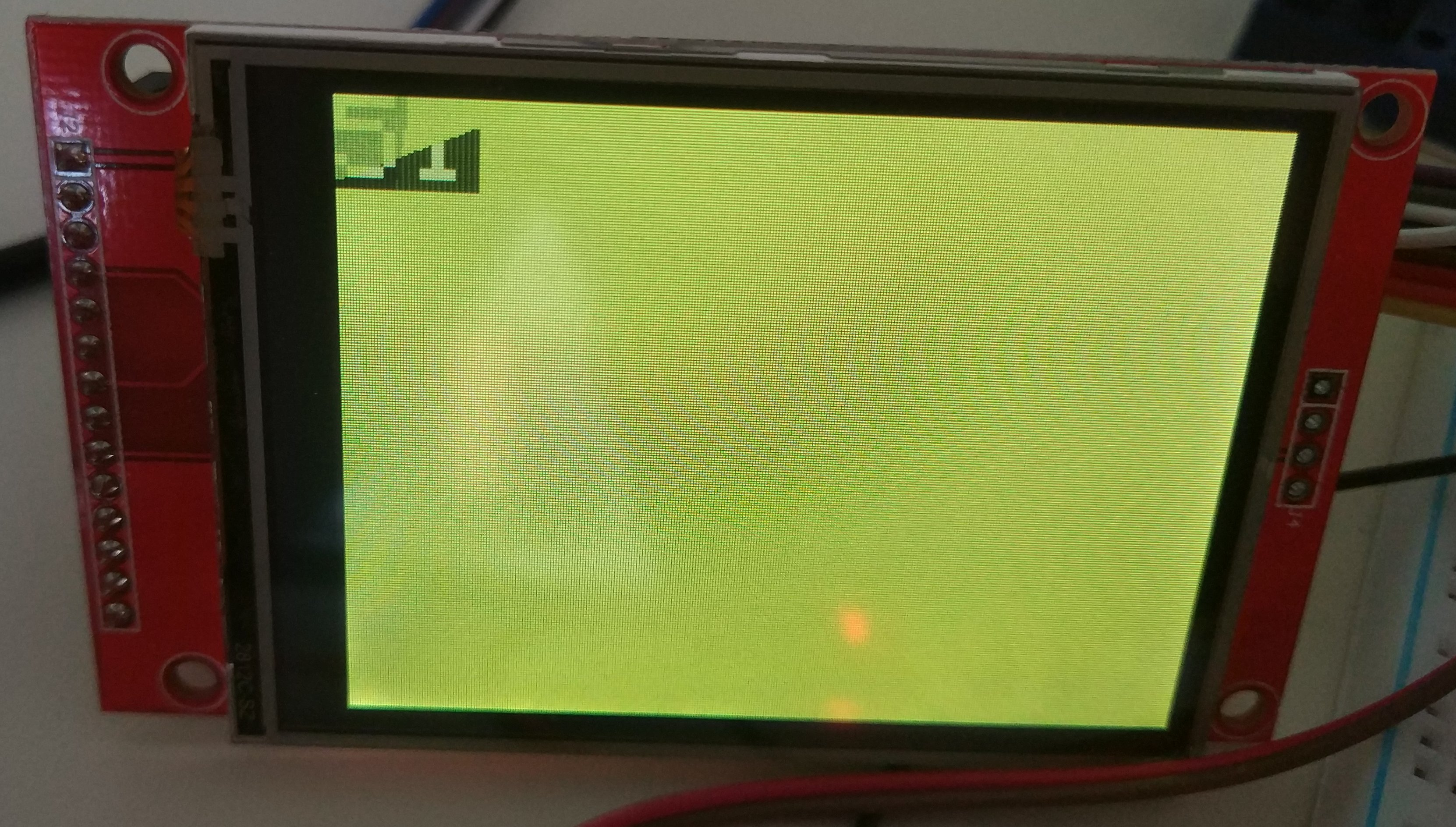 Driving an ILI9341 LCD with an overclocked stm32f103 (updated